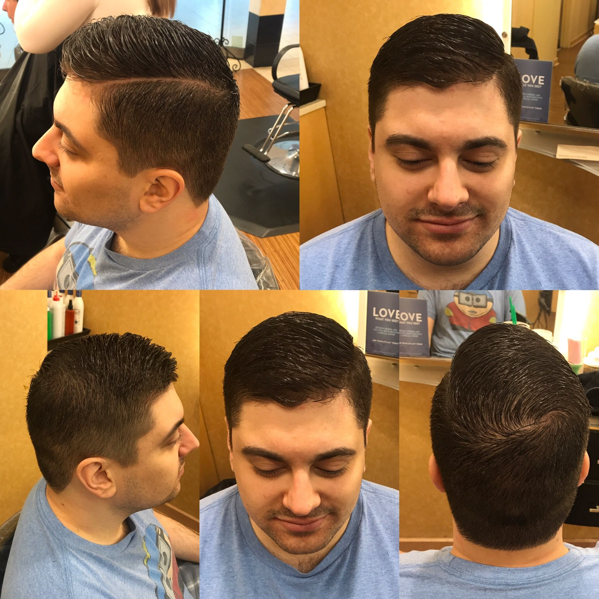Mens Faded Hard Part Haircut Hair By Veronica Layne Pinterest
