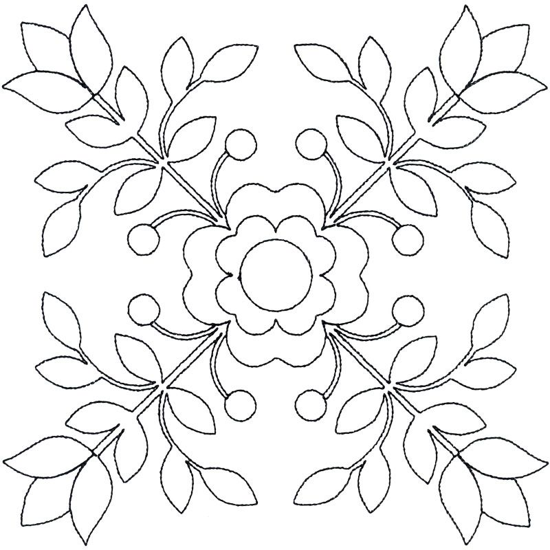 Seven Inch Block 2 #12591-06   dibujos para bordar   Pinterest ...