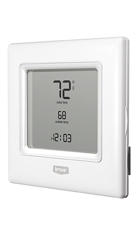 Preferred Non Programmable Thermostat And Thermidistat Model T6 Nrh01 B 2 Touch N Go Feature Conv Bryant Heat Pump Heat Pump Digital Thermostat