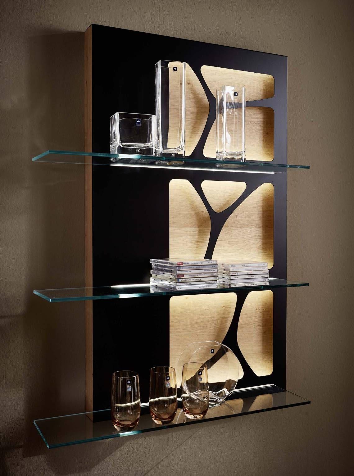 Leonardo Living Club-Premium-Kollektion Regal in Schwarz  Regal