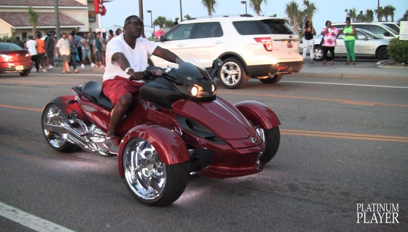 Can am spyder roadster custom myrtle beach youtube