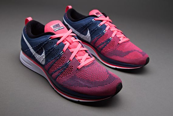 Nike Flyknit Trainer + - Unisex Running Shoes - Squadron Blue-White-Pink  Flash