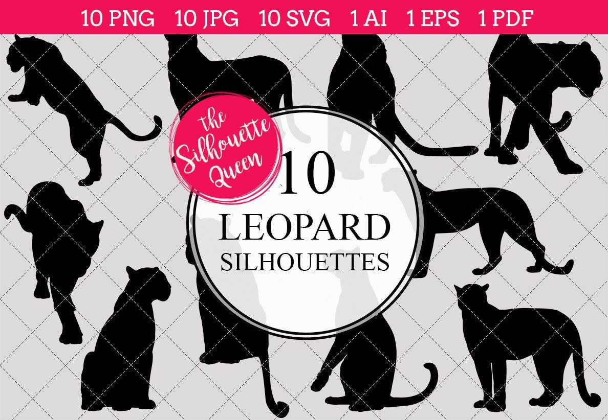 leopard silhouette vectorthe silhouette queen