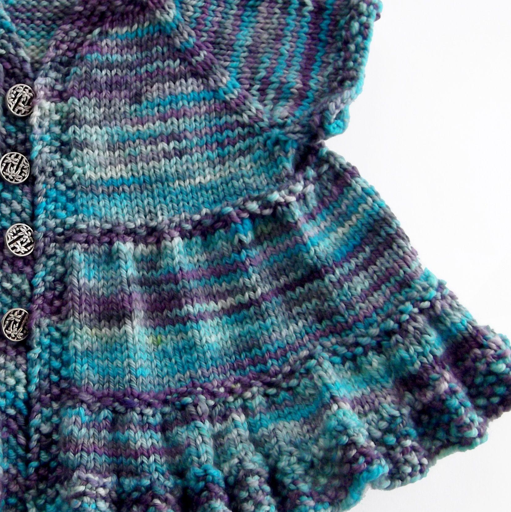 Knitting With Circular Needles Patterns : Ruffle dress baby knitting pattern a book by jenn