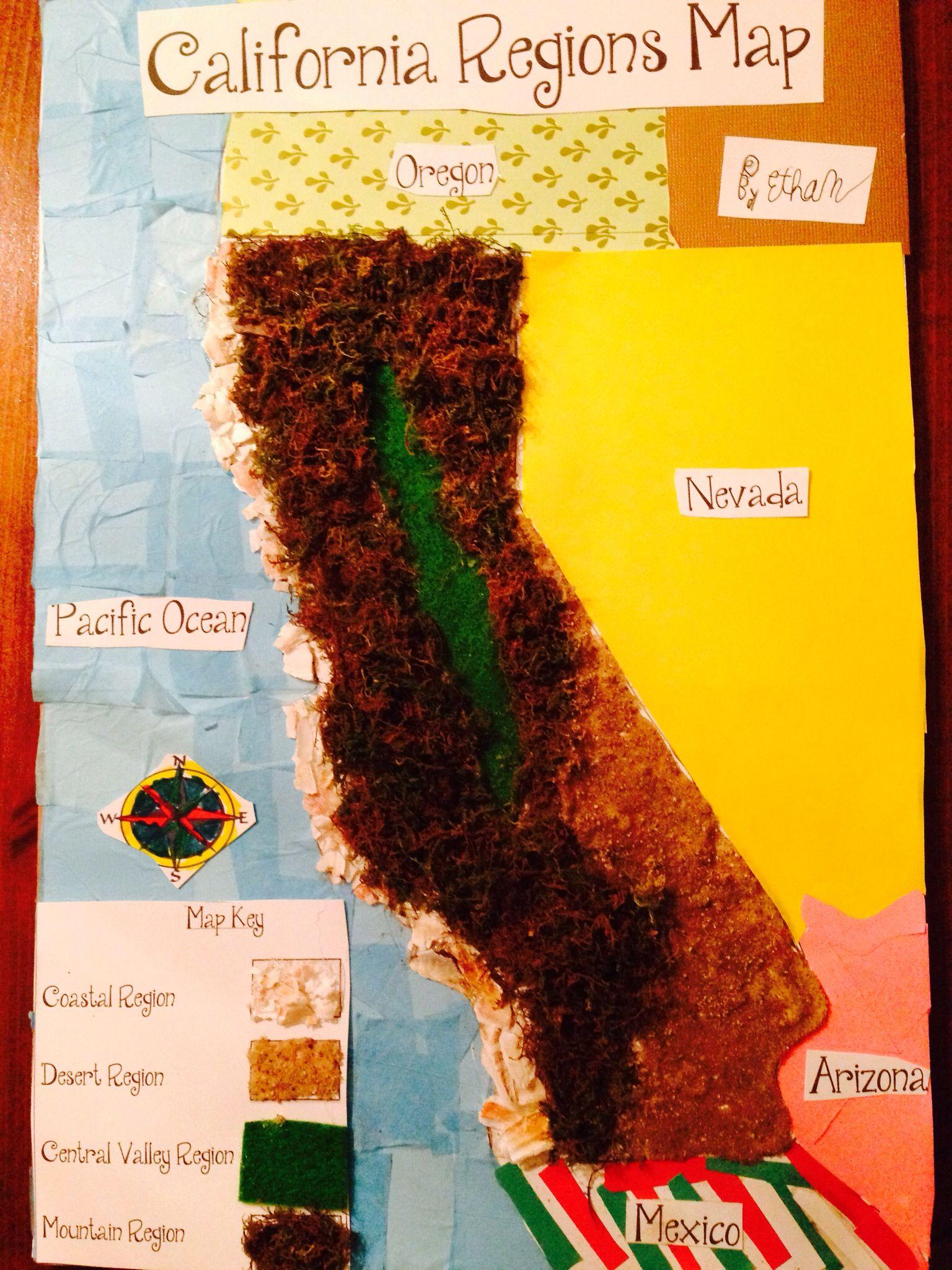 California Regions Map By Ethan