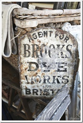 Brooks Dye Works, Bristol, England, vintage enamel sign