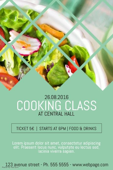 Cooking Classes Class Course Flyer Template Postermywall Cooking Classes Design Cooking Cooking Poster