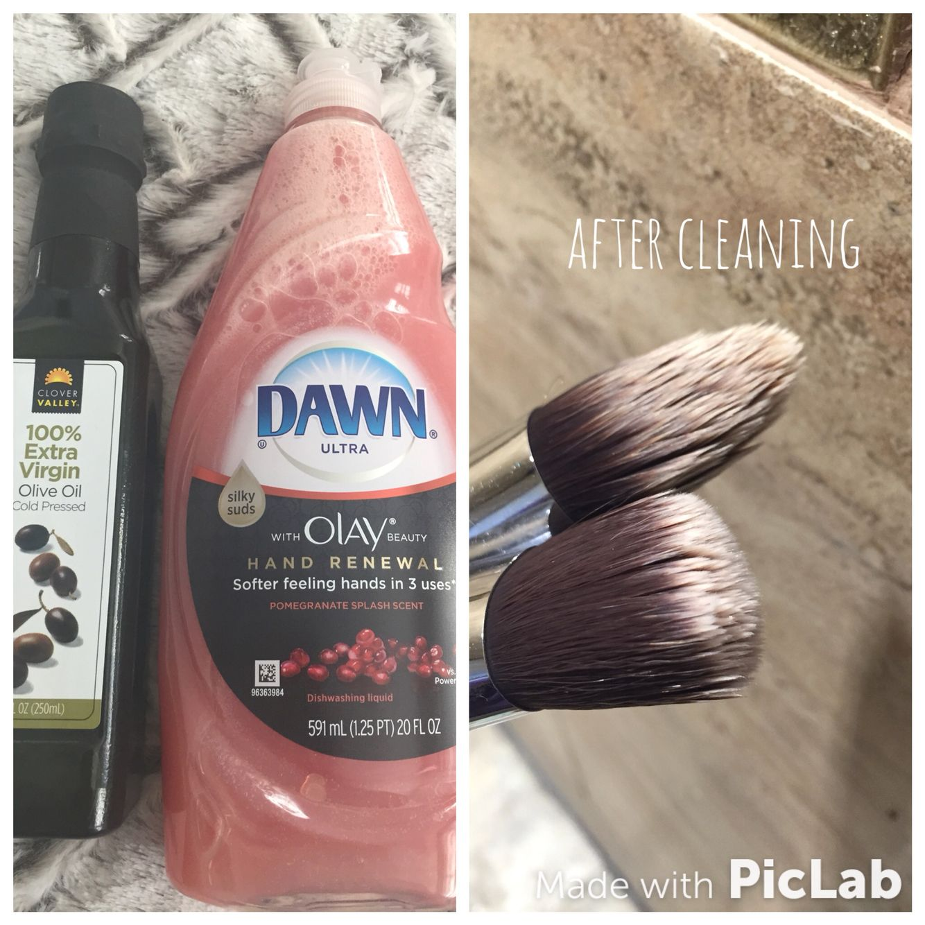 Olive oil and Dawn hand renewal, Olay dish soap