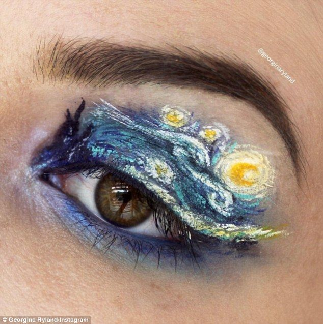 A makeup artist is creating incredible paintings on her eyelids