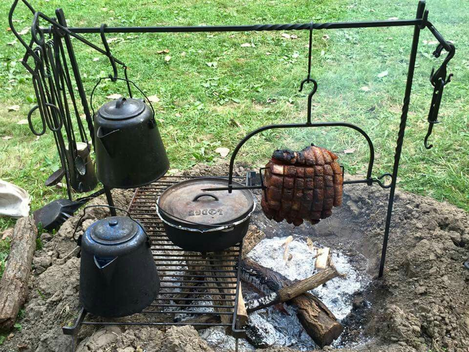 Cowboy cooking grill pinterest cowboys camping and for Outdoor kitchen equipment