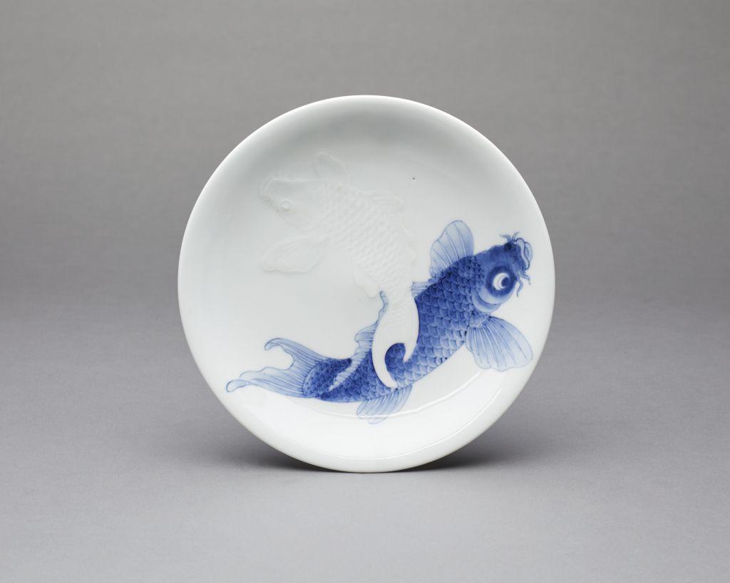 Hirado Ware Twin Carp Japanese Ceramic Beautiful
