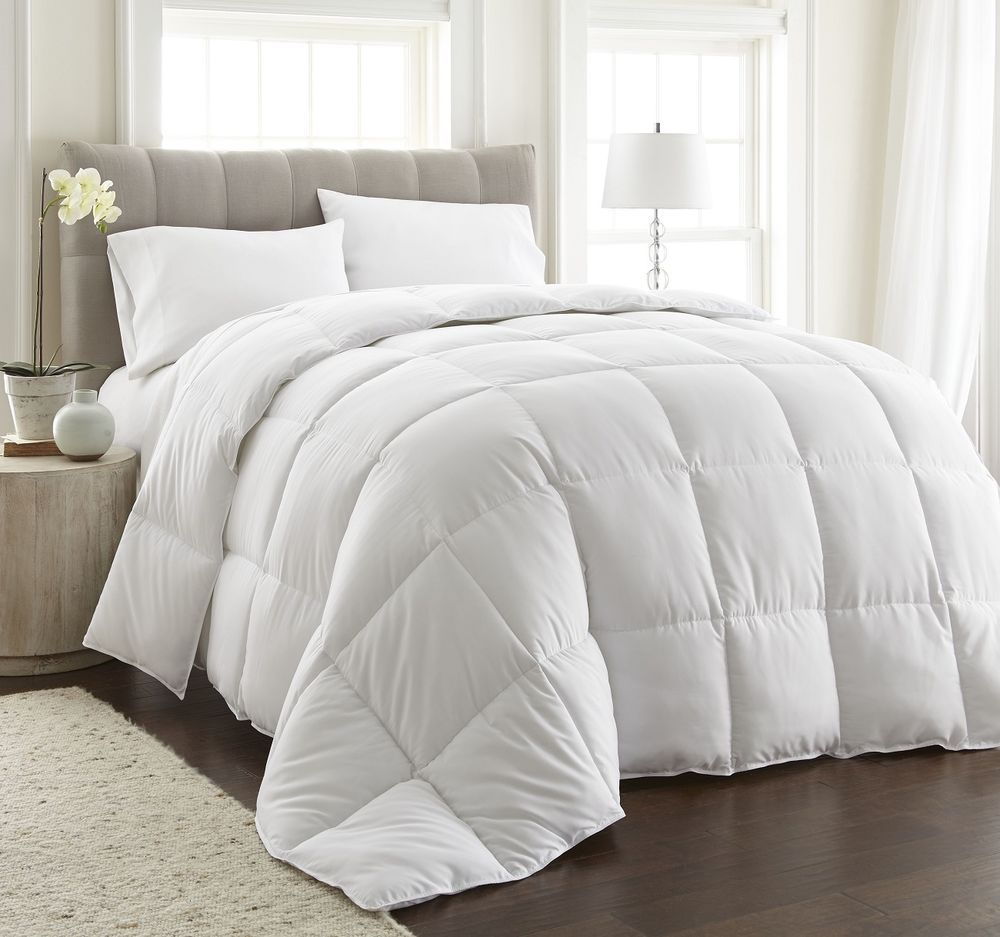 White Extra Filled Down Alternative Comforter Duvet Insert W Corner Tabs King Bed Comforters Duvet Comforters White Comforter