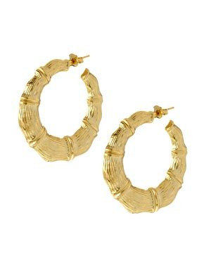 Image 1 Of Gogo Philip Wide Ghetto Hoop Earrings
