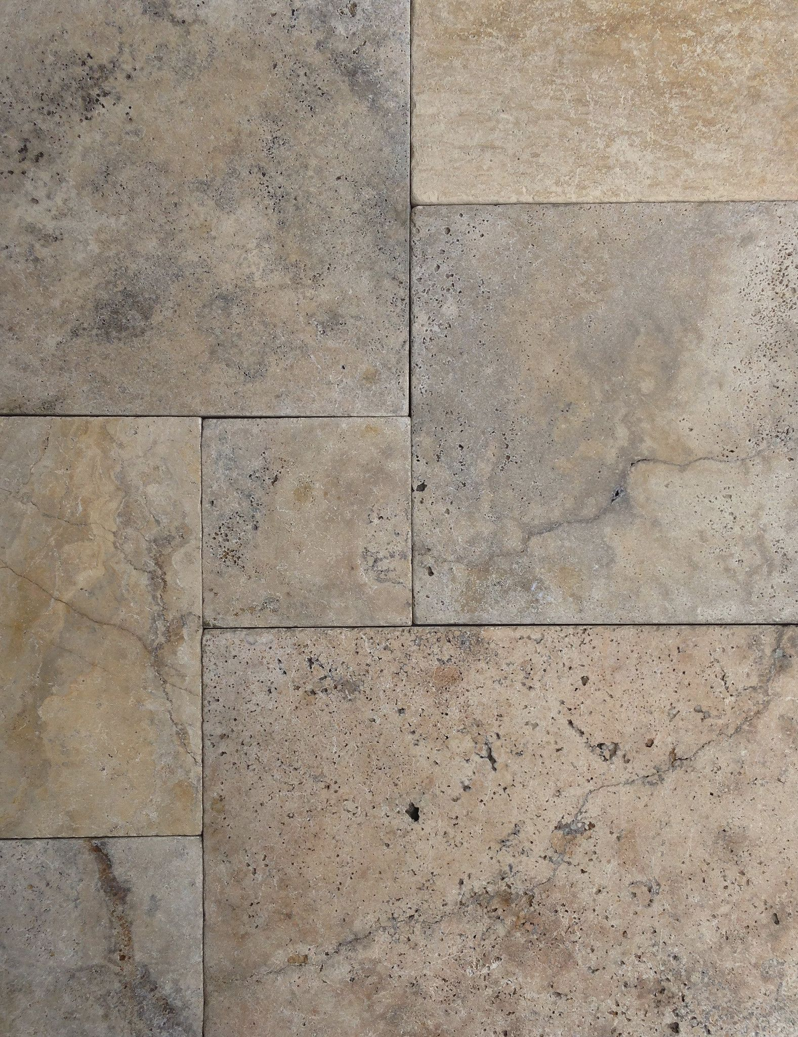French Tuscany Blend Versailles Tumbled Travertine Tile Travertine Travertine Pavers Versailles Pattern