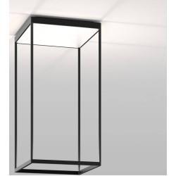 Photo of serien.lighting Reflex² Ceiling M 600 ceiling light black reflector matt white Dali dimmable / 1-10V