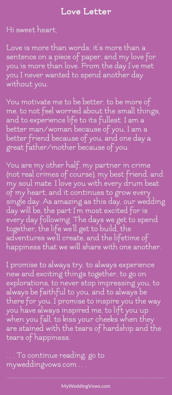 Love Letter Juan Pinterest Wedding Quotes Wedding Vows To