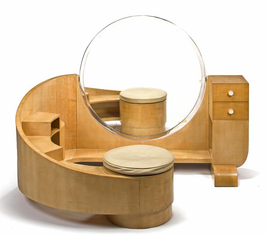 "dc9bab80af029 Artchiculture  ""A Saddier et Fils sycamore and ivory dressing table ..."