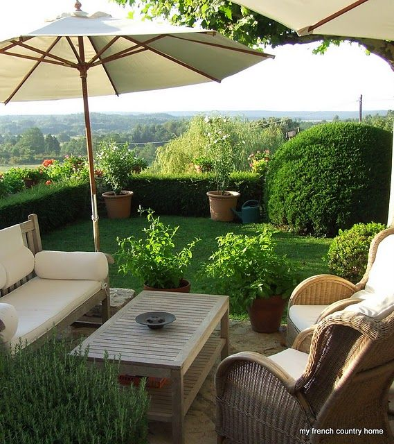 South of France style garden. This is where I will retire ... on My Garden Outdoor Living id=83443