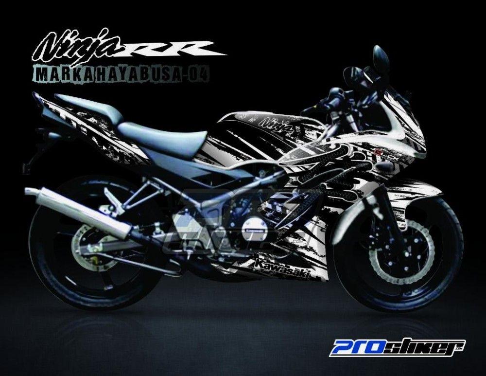 Striping Ninja 150 RR New Putih Motif Marka Hayabusa White