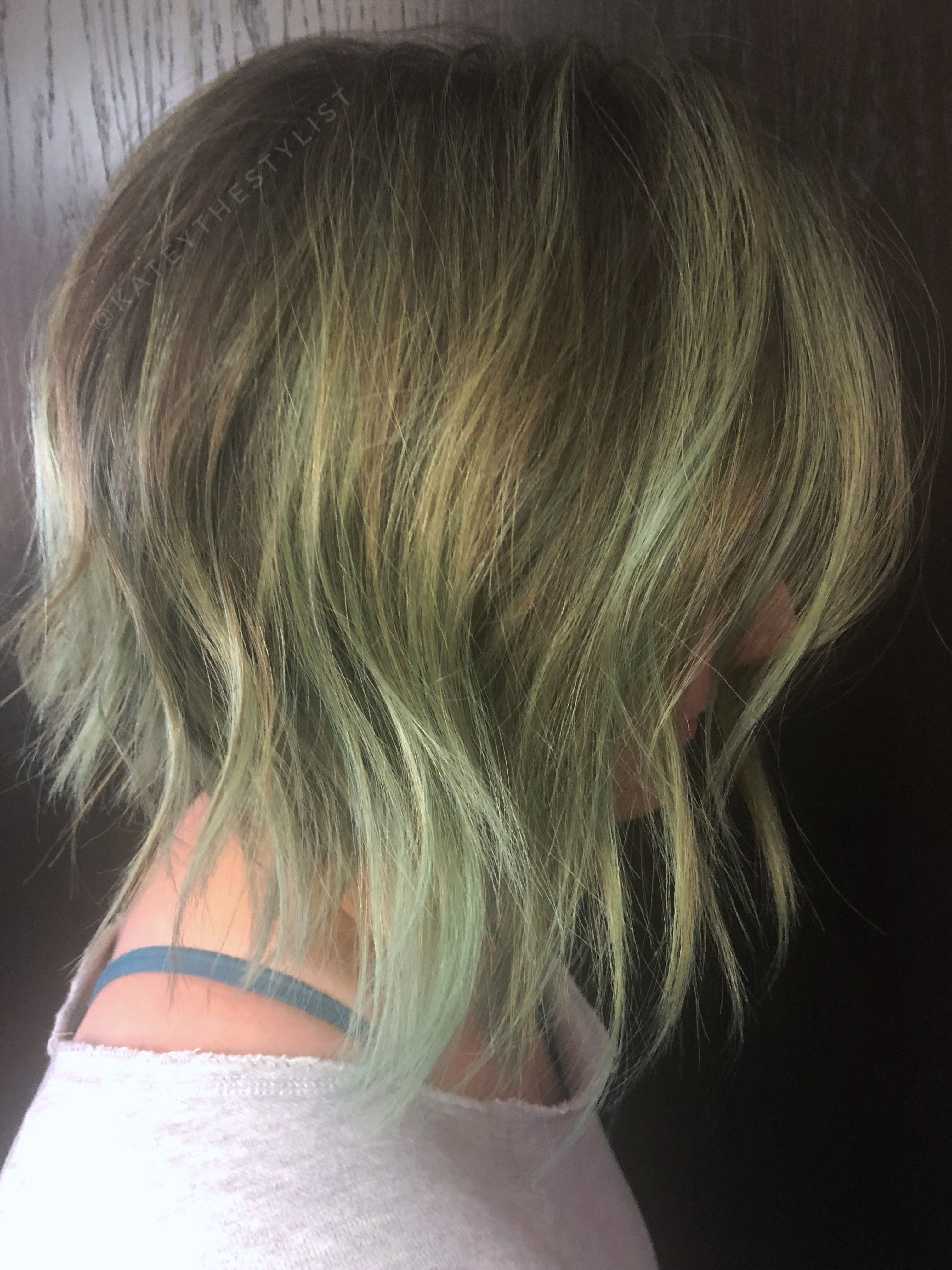 Grungy Sage Balayage Featuring Pulp Riot Aftermath