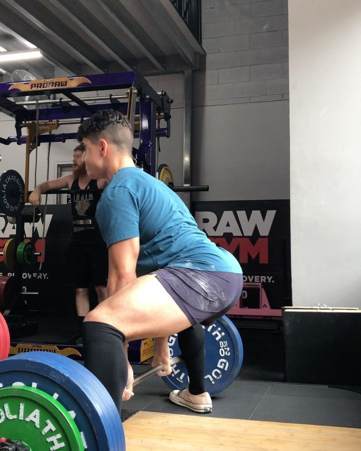 Trained down at @prorawgym. Back is starting to feel like it's old self. 3 sets of 5 at 200kg. No
