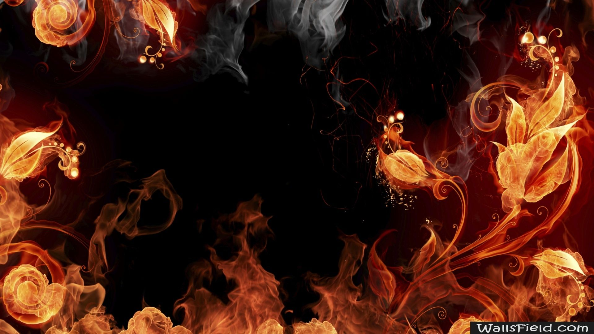 Artistic Fire Elemental Smoke Wallpaper Fire Art