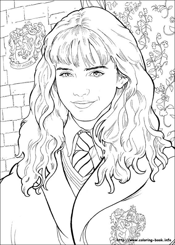 Harry Potter Coloring Pages Harry Ron Hermione You'll Love