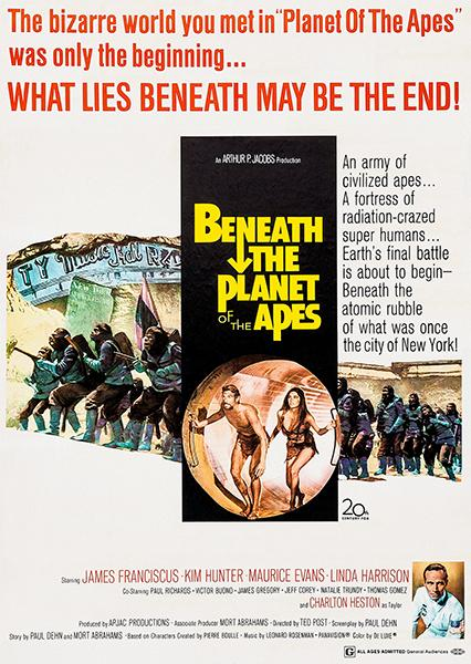 Beneath The Planet Of The Apes 1970 Movie Poster Planet Of The Apes Planets Linda Harrison
