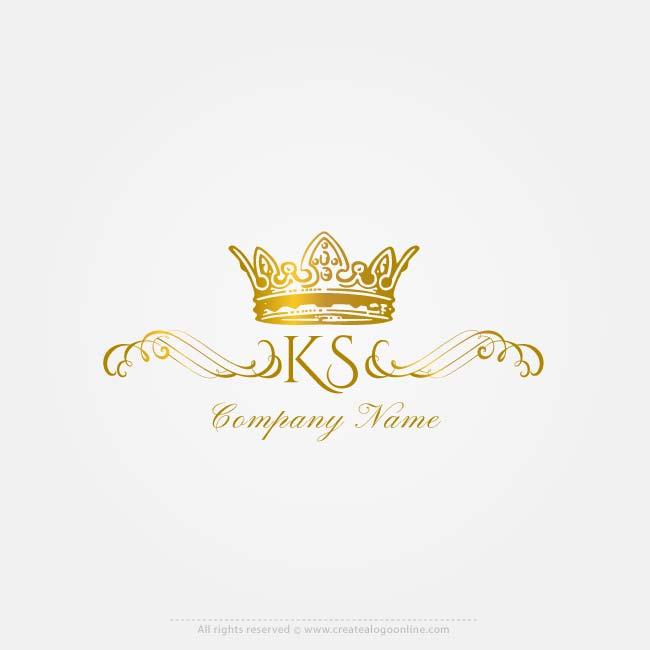 Vector Logo Maker Royal Crown Logos Letter Logo Creator