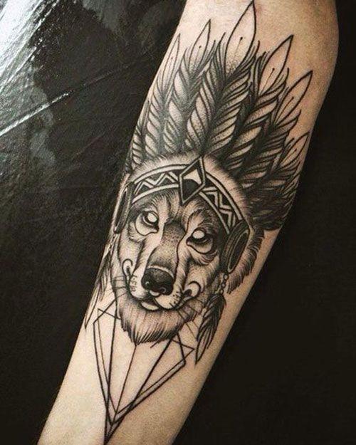 101 Best Wolf Tattoos For Men Cool Designs Ideas 2020 Guide Native Tattoos Native American Tattoos American Tattoos