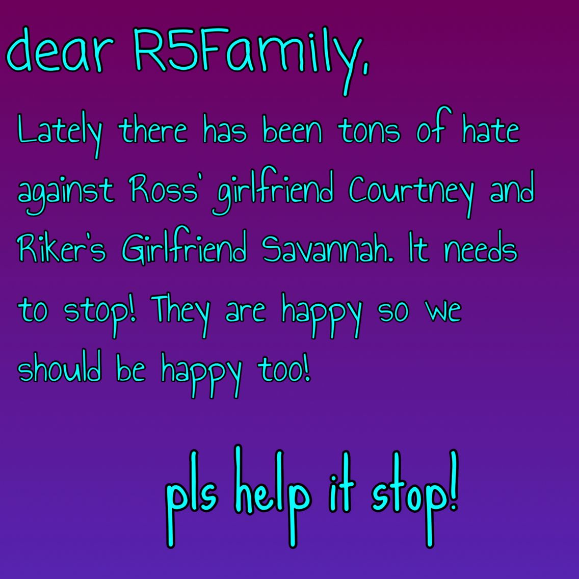 Help it stop R5 family!