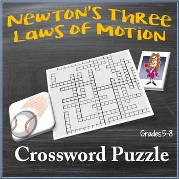 Newton S Three Laws Of Motion Crossword Puzzle Newtons Third Law