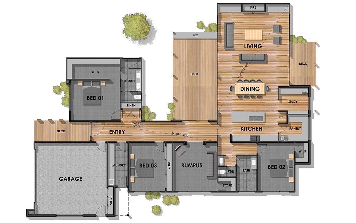 Connewarre 35 Single Storey Home Floor Plan 1200 750 House Plans Australia Beach House Plans New House Plans