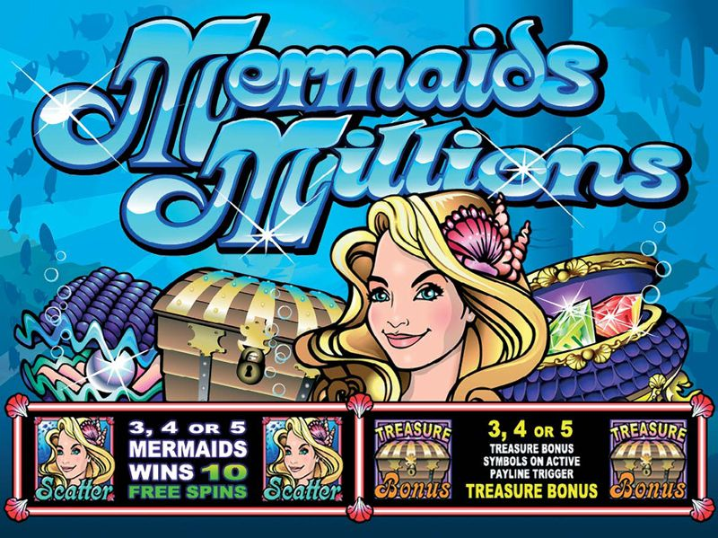 Mermaid millions slot machine evergreen council on problem gambling