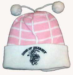 27c51021 Sons of Anarchy soa baby girl pink beanie hat brand new logo is embroidered
