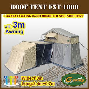 1 8m Roof Top Tent Camper Trailer Camping Car Rack Annex Awning Net Pop Up Ext Camping Trailer Diy Roof Top Tent Tent Campers