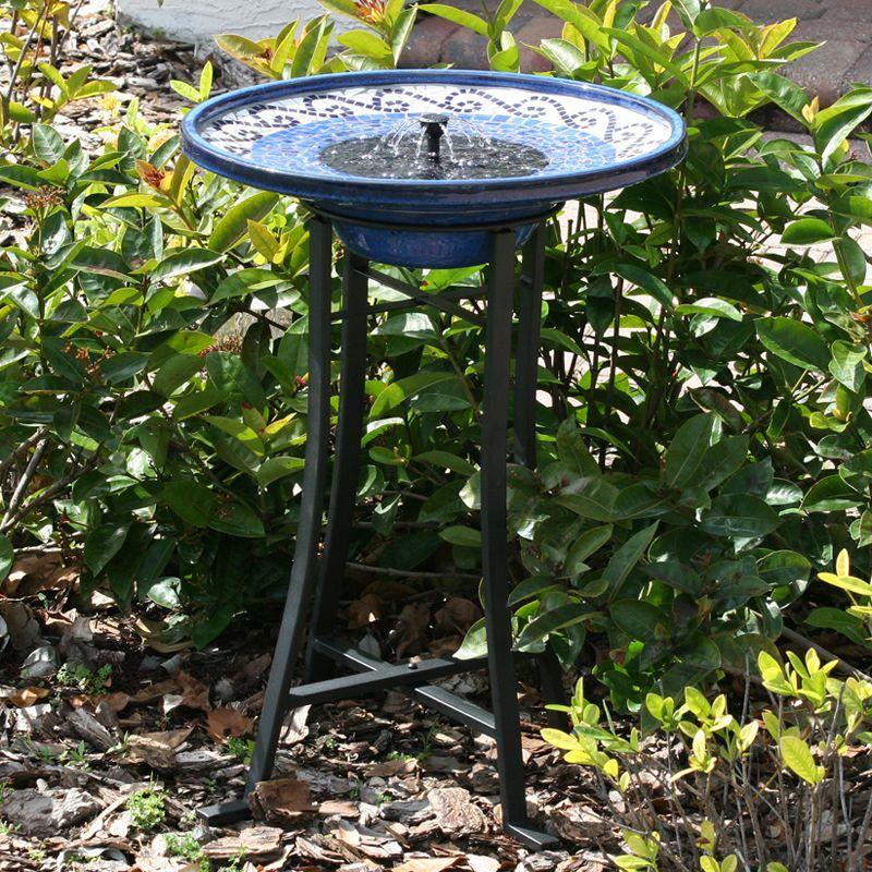 Smart Solar 20747r01 Solar Powered Birdbath Lowe S Canada Solar Water Fountain Solar Bird Bath Solar Fountain