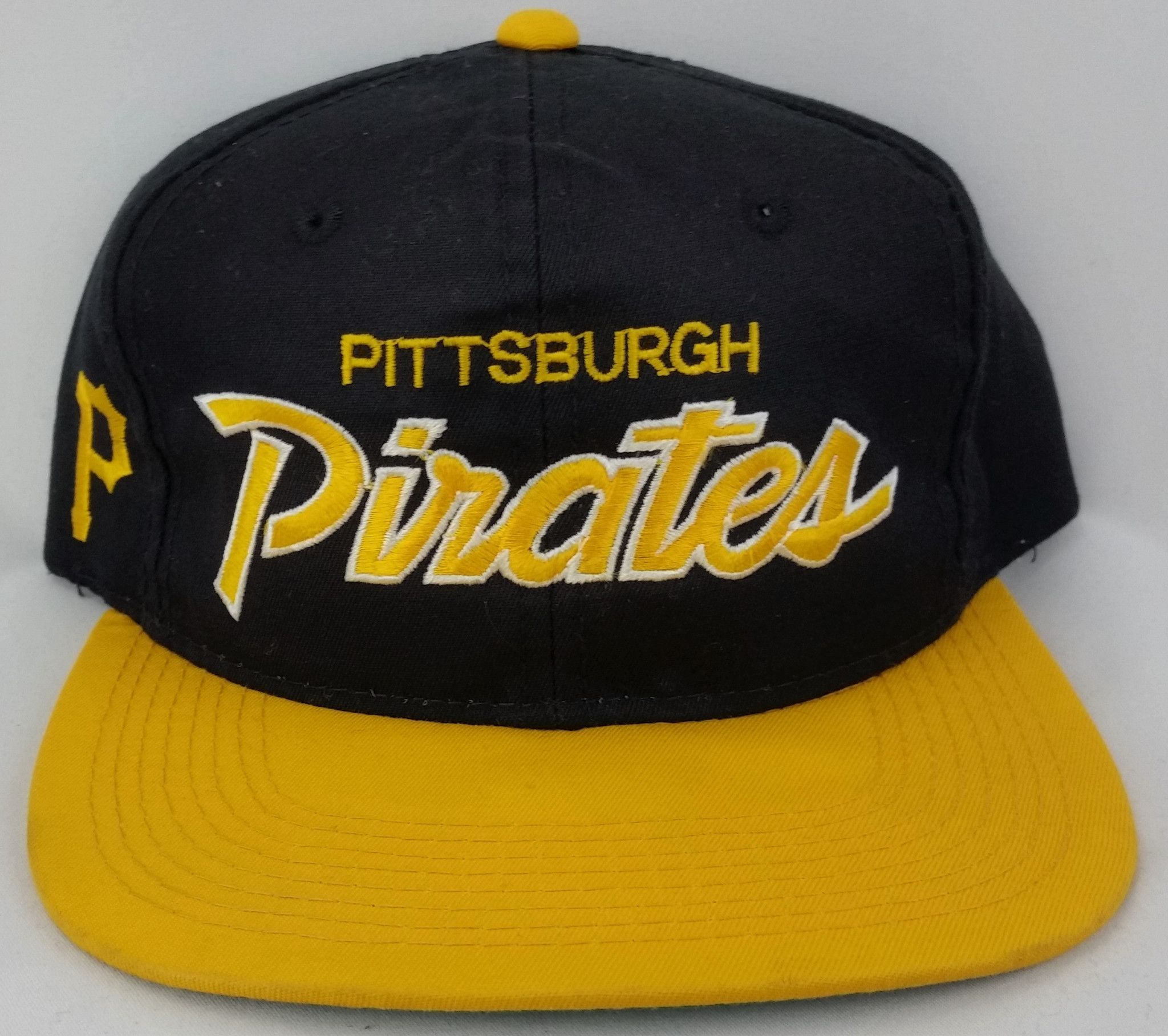 promo code 3db0e 3d681 Pittsburgh Pirates Vintage Snapback Sports Specialties Script Hat MLB  Starter