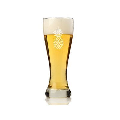 Chloe and Madison Pineapple 16 oz. Pilsner Beer Glass
