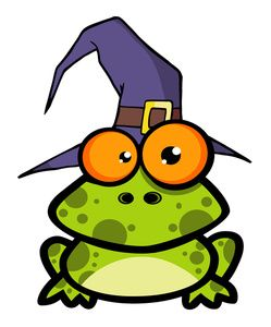 Sorcerer Clipart Image: Toad or Frog Wearing a Wizard's Hat ...