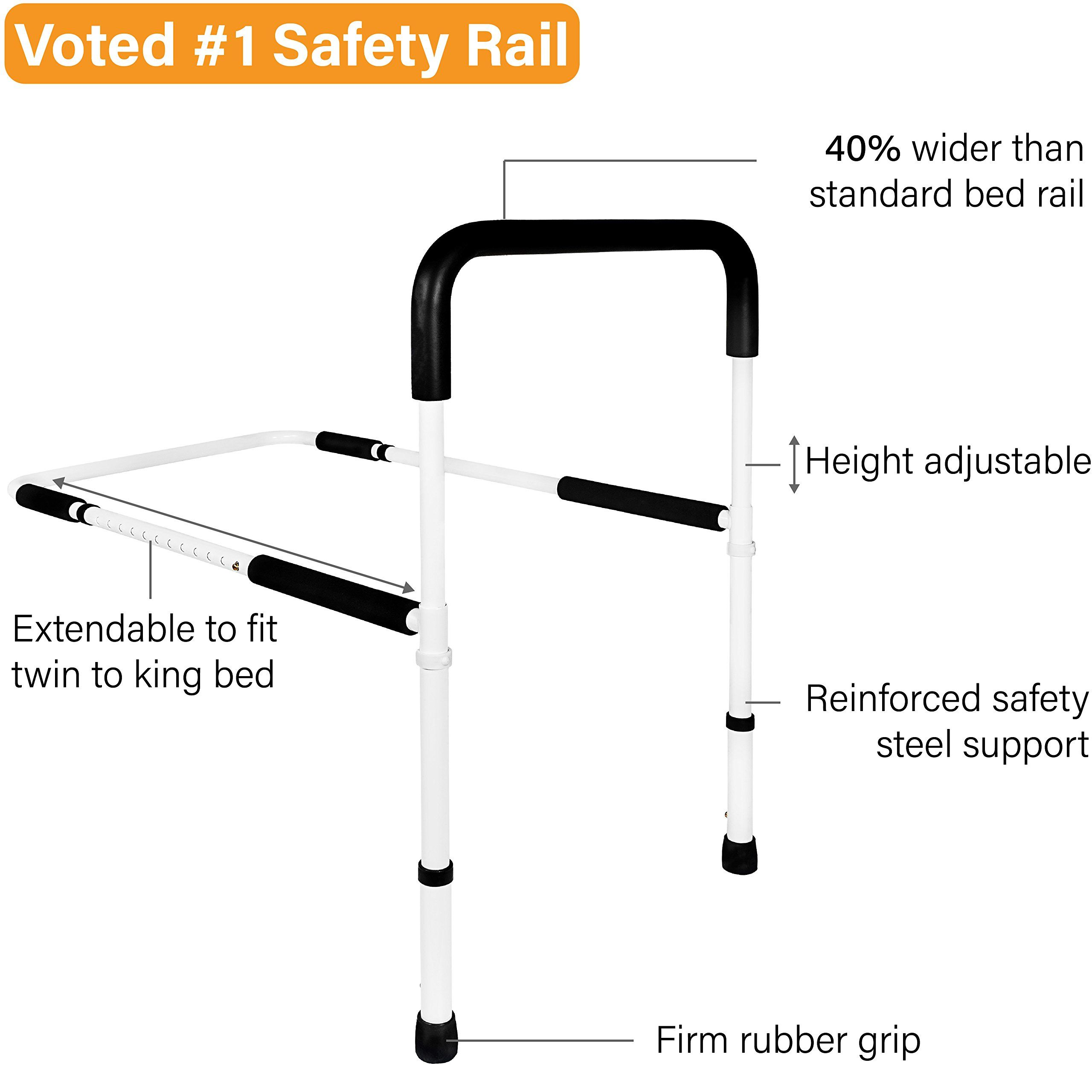 Medical Adjustable Bed Assist Rail Handle and Hand Guard