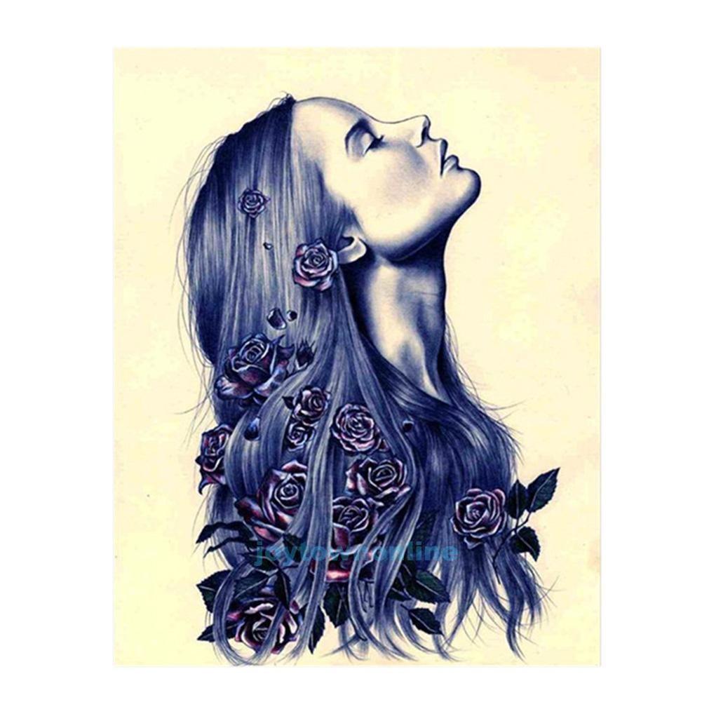 436aud diy 5d diamond embroidery rose woman painting