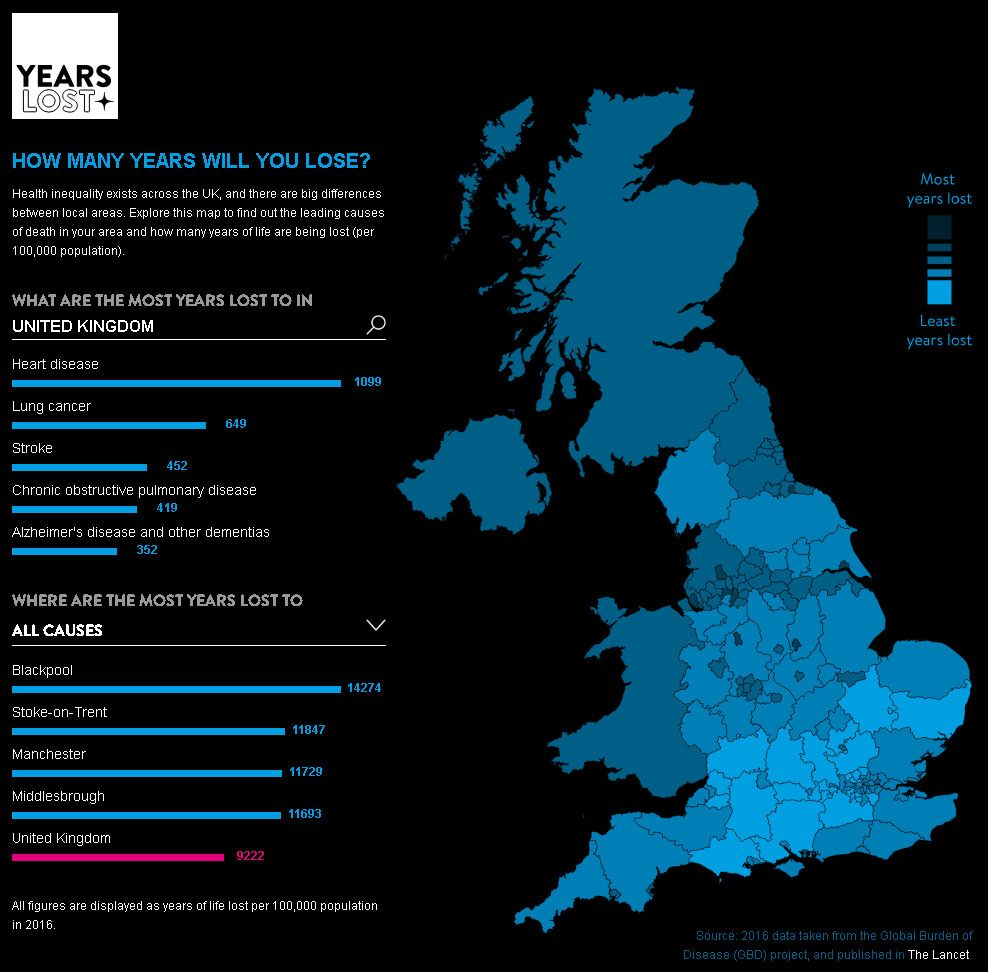 Uk Mapping Health Inequality Map British Isles Map Interactive Map