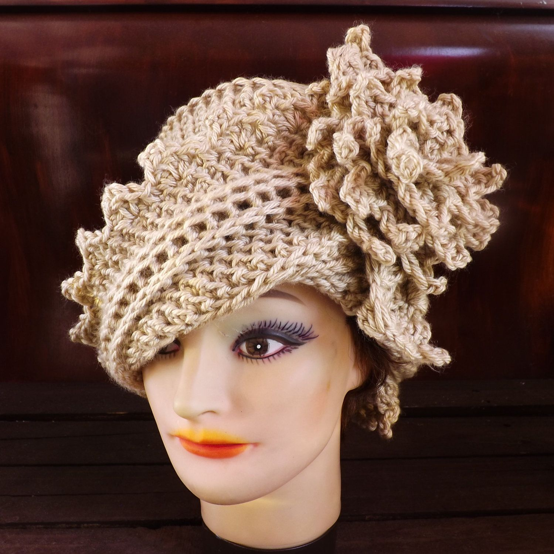 Strawberry Couture Pattern Hat Crochet for Women Cloche - PDF DIY ...