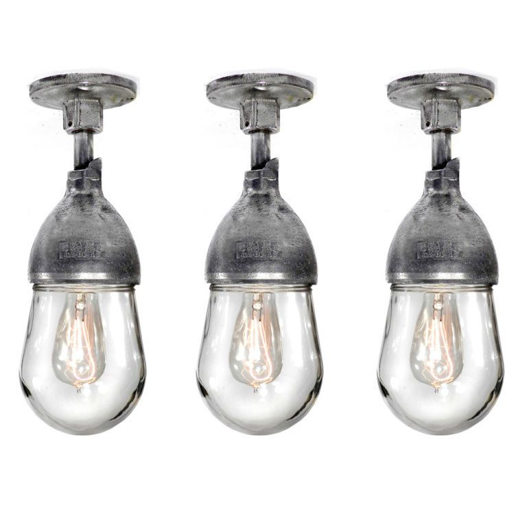 3 Matching Aluminum Explosion Proof Lamps