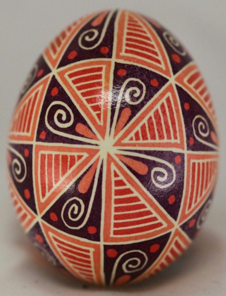40 Triangles Ukrainian Pysanka - represents the 40 days ... Easter Egg Representing Jesus