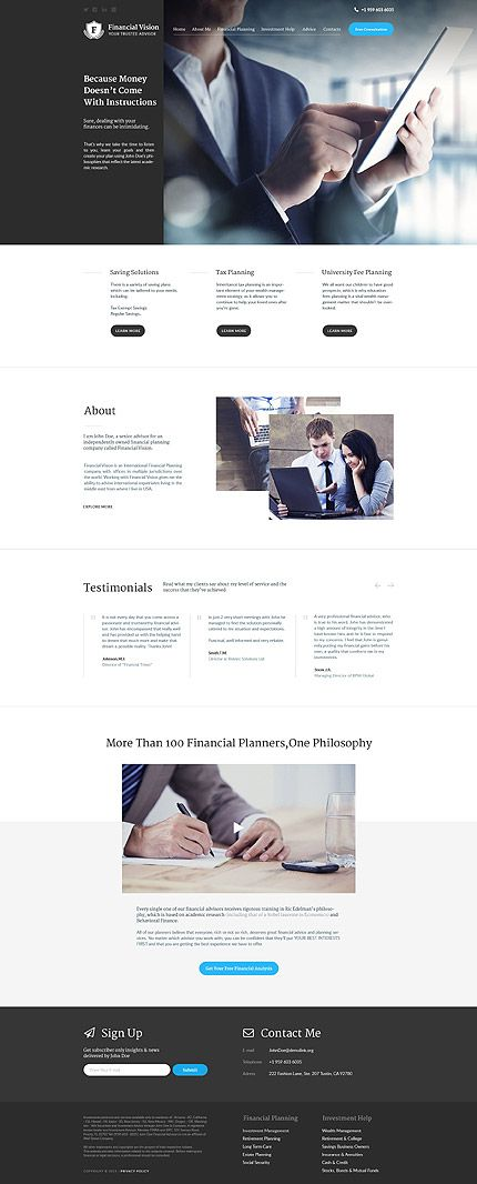 Template 57761 - Faa Financial Responsive WordPress Theme ...