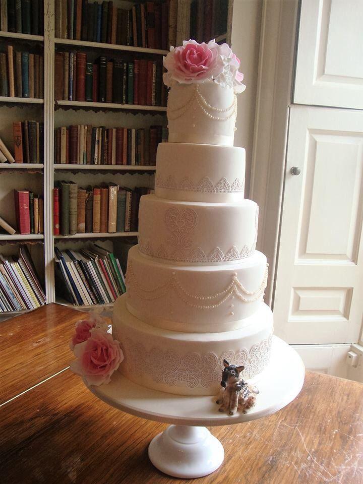 Beautiful Wedding Cake At A Chilston Park Hotel Wedding Near