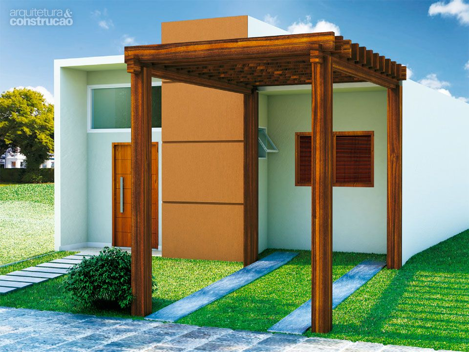 Projeto de casa pequena e cheia de economia Projetos de