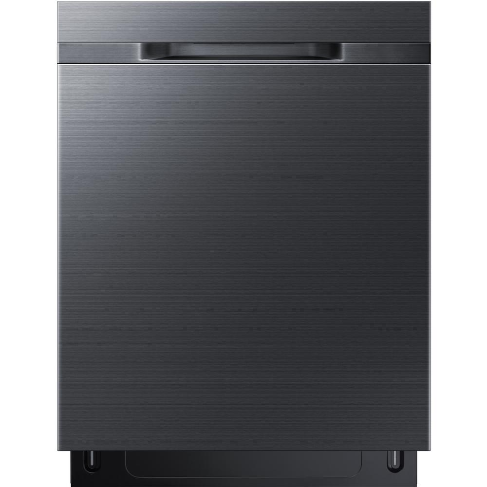 Samsung 24 In Top Control Stormwash Dishwasher In Fingerprint Resistant Black Stainless With Autorelease Dry 48 Dba Dw80k5050ug The Home Depot Samsung Dishwasher Steel Tub Top Control Dishwasher